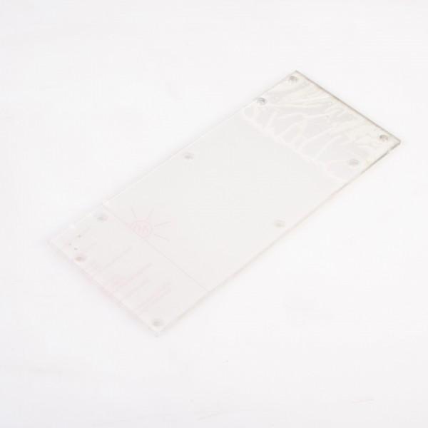 Lampenabdeckung / Plexiglasscheibe für LB15II-M, 330 x 130 mm